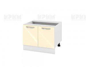 Кухненски долен шкаф за печка тип Раховец Сити БФ-Бежово гланц-05-32 МДФ - 60 см.