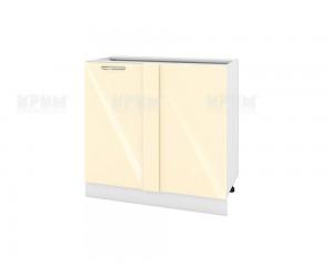 Ъглов долен шкаф за кухня Сити БФ-Бежово гланц-05-42 МДФ - 90 см.