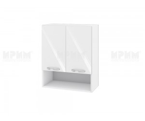 Горен шкаф за кухня Сити БФ-Бяло гланц-05-7 МДФ - 60 см.