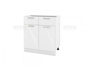 Долен шкаф за кухня Сити БФ-Бяло гланц-05-26 МДФ - 80 см.