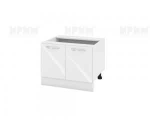 Долен кухненски шкаф за печка тип Раховец Сити БФ-Бяло гланц-05-32 МДФ - 60 см.