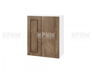 Ъглов горен шкаф за кухня Сити БФ-Дъб натурал-06-17 МДФ - 60 см.