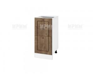 Долен шкаф за кухня Сити БФ-Дъб натурал-06-77 ляв МДФ - 40 см.