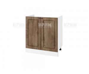 Кухненски долен шкаф за бордова мивка Сити БФ-Дъб натурал-06-30 МДФ - 80 см.