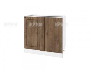 Долен кухненски шкаф за ъгъл Сити БФ-Дъб натурал-06-42 МДФ - 90 см.