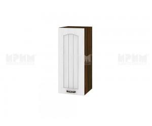 Горен шкаф за кухня Сити ВФ-Бяло фладер-04-1 десен МДФ - 30 см.
