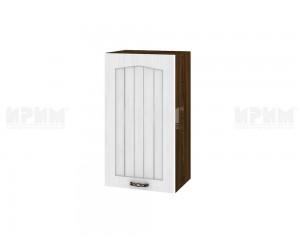 Горен шкаф за кухня Сити ВФ-Бяло фладер-04-2 десен МДФ - 40 см.