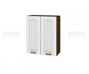 Горен шкаф за кухня Сити ВФ-Бяло фладер-04-3 МДФ - 60 см.