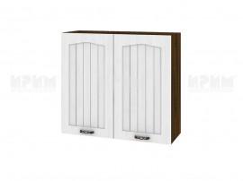 Горен шкаф за кухня Сити ВФ-Бяло фладер-04-4 МДФ - 80 см.