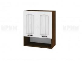 Горен шкаф за кухня Сити ВФ-Бяло фладер-04-7 МДФ - 60 см.