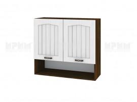 Горен шкаф за кухня Сити ВФ-Бяло фладер-04-8 МДФ - 80 см.