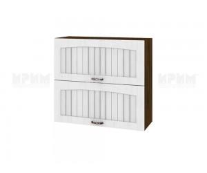 Горен шкаф за кухня Сити ВФ-Бяло фладер-04-12 МДФ - 80 см.