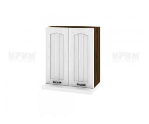 Кухненски горен шкаф за аспиратор Сити ВФ-Бяло фладер-04-13 МДФ - 60 см.