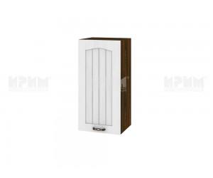 Горен шкаф за кухня Сити ВФ-Бяло фладер-04-66 ляв МДФ - 35 см.
