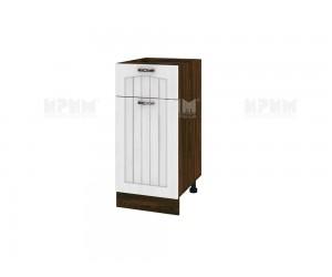 Долен шкаф за кухня Сити ВФ-Бяло фладер-04-24 десен МДФ - 40 см.