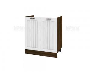 Кухненски долен шкаф за бордова мивка Сити ВФ-Бяло фладер-04-30 МДФ - 80 см.