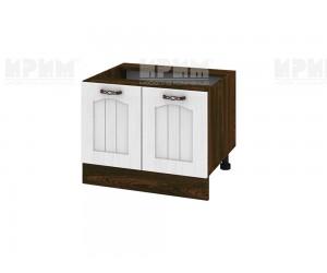 Кухненски долен шкаф за печка тип Раховец Сити ВФ-Бяло фладер-04-32 МДФ - 60 см.