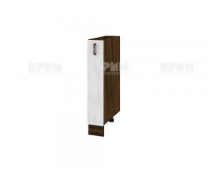 Долен шкаф-бутилиера за кухня Сити ВФ-Бяло фладер-04-41 МДФ - 15 см.