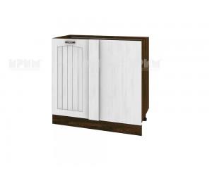 Долен кухненски шкаф за ъгъл Сити ВФ-Бяло фладер-04-42 десен МДФ - 90 см.