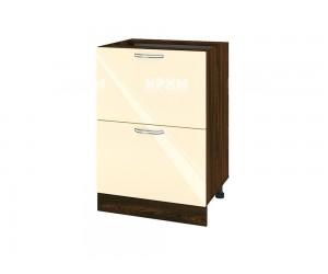 Долен шкаф за кухня Сити ВФ-Бежово гланц-05-44 МДФ - 60 см.