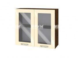 Горен шкаф за кухня Сити ВФ-Бежово гланц-05-204