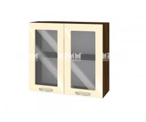 Горен шкаф за кухня Сити ВФ-Бежово гланц-05-204 МДФ - 80 см.