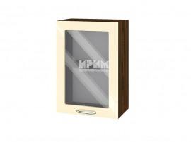Горен шкаф за кухня Сити ВФ-Бежово гланц-05-218