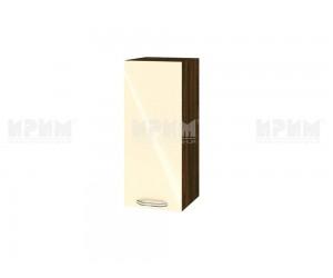 Горен шкаф за кухня Сити ВФ-Бежово гланц-05-1 МДФ - 30 см.