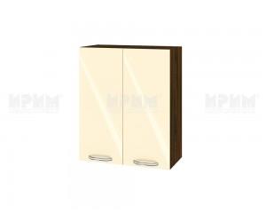 Горен шкаф за кухня Сити ВФ-Бежово гланц-05-3 МДФ - 60 см.