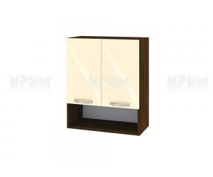 Горен шкаф за кухня Сити ВФ-Бежово гланц-05-7 МДФ - 60 см.