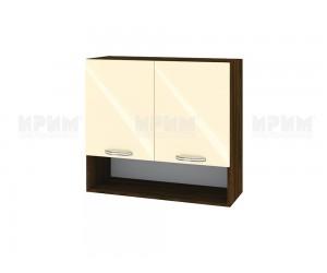 Горен шкаф за кухня Сити ВФ-Бежово гланц-05-8 МДФ - 80 см.