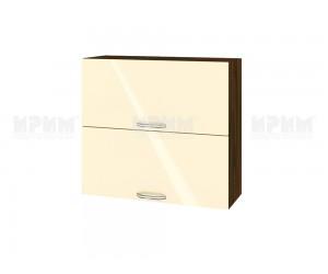 Горен шкаф за кухня Сити ВФ-Бежово гланц-05-12