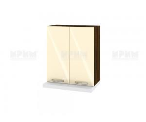 Кухненски горен шкаф за аспиратор Сити ВФ-Бежово гланц-05-13 МДФ - 60 см.