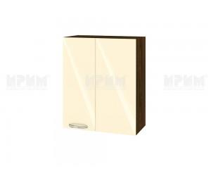 Ъглов горен шкаф за кухня Сити ВФ-Бежово гланц-05-17 МДФ - 60 см.