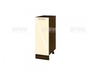 Долен шкаф за кухня Сити ВФ-Бежово гланц-05-20 МДФ - 30 см.
