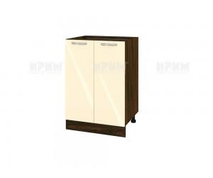 Долен шкаф за кухня Сити ВФ-Бежово гланц-05-22 МДФ - 60 см.