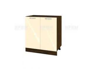 Долен шкаф за кухня Сити ВФ-Бежово гланц-05-23 МДФ - 80 см.