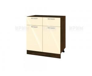 Долен шкаф за кухня Сити ВФ-Бежово гланц-05-26 МДФ - 80 см.