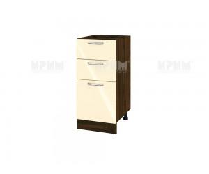 Долен шкаф за кухня Сити ВФ-Бежово гланц-05-27 МДФ - 40 см.