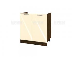 Кухненски долен шкаф за бордова мивка Сити ВФ-Бежово гланц-05-30 МДФ - 80 см.