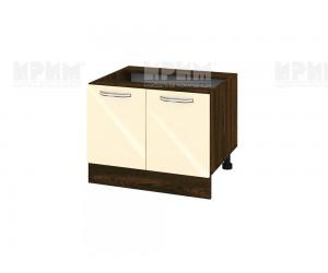 Кухненски долен шкаф за печка тип Раховец Сити ВФ-Бежово гланц-05-32