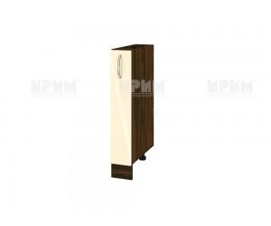 Долен шкаф - бутилиера за кухня Сити ВФ-Бежово гланц-05-41 МДФ - 15 см.