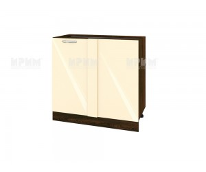 Ъглов долен шкаф за кухня Сити ВФ-Бежово гланц-05-42 МДФ - 90 см.