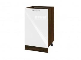 Долен шкаф за кухня Сити ВФ-Бяло гланц-05-43 МДФ - 50 см.