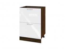 Долен шкаф за кухня Сити ВФ-Бяло гланц-05-44 МДФ - 60 см.
