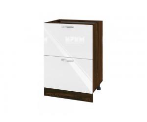 Долен шкаф за кухня Сити ВФ-Бяло гланц-05-44