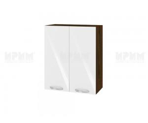 Горен шкаф за кухня Сити ВФ-Бяло гланц-05-3 МДФ - 60 см.