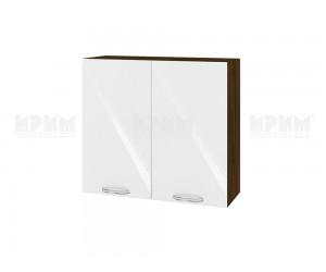 Горен шкаф за кухня Сити ВФ-Бяло гланц-05-4