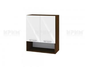 Горен шкаф за кухня Сити ВФ-Бяло гланц-05-7