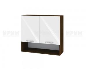 Горен шкаф за кухня Сити ВФ-Бяло гланц-05-8 МДФ - 80 см.